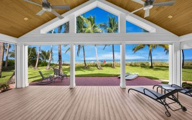 Lykos residential remodel - Lanai with ocean view