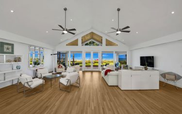 Lykos residential remodel - Family room with ocean view